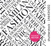 Fashion vector background, words cloud. - stock vector