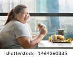 Picture Of Fat Woman Smiling A...
