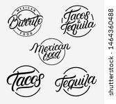 mexican food and drink... | Shutterstock . vector #1464360488