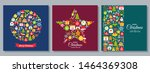 christmas background. vector.... | Shutterstock .eps vector #1464369308