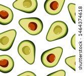 avocado seamless pattern on... | Shutterstock .eps vector #1464374618