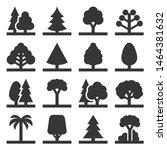 tree icons set on white... | Shutterstock .eps vector #1464381632