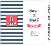 wedding nautical invitation... | Shutterstock .eps vector #146439698
