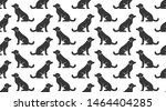 Dogs Vector Seamless Pattern...