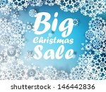 christmas sale background. eps... | Shutterstock .eps vector #146442836
