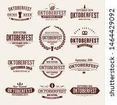 oktoberfest typographic design...   Shutterstock .eps vector #1464429092