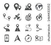 navigation guide direction map...   Shutterstock .eps vector #1464433352