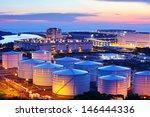 oil tank during sunset | Shutterstock . vector #146444336
