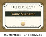 certificate template with... | Shutterstock .eps vector #1464502268