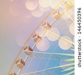 ferris wheel with abstract... | Shutterstock . vector #146450396