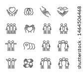 vector set of friendship and... | Shutterstock .eps vector #1464506468