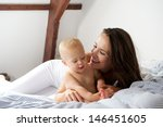 portrait of a happy woman... | Shutterstock . vector #146451605
