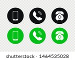 phone icon vector set. flat... | Shutterstock .eps vector #1464535028