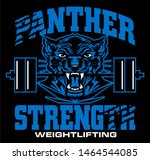 panther strength weightlifting... | Shutterstock .eps vector #1464544085