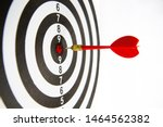 close up dart board with a red... | Shutterstock . vector #1464562382