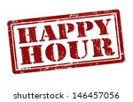 happy hour grunge rubber stamp  ... | Shutterstock .eps vector #146457056