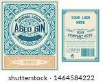 vintage gin label. vector...   Shutterstock .eps vector #1464584222