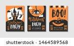 vector set of halloween party...   Shutterstock .eps vector #1464589568
