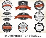 premium quality labels | Shutterstock . vector #146460122