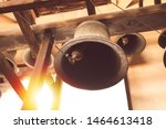 Vintage Church Bell Under Tower ...