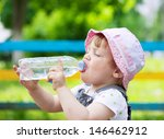 2 years child drinks from... | Shutterstock . vector #146462912