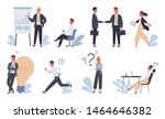business concept. a character... | Shutterstock .eps vector #1464646382