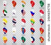 3d geolocation signs of twenty... | Shutterstock .eps vector #1464654758