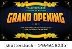 grand opening vector editable... | Shutterstock .eps vector #1464658235