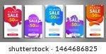 flash sale banner set. colorful ... | Shutterstock .eps vector #1464686825