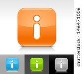 info icon set. blue  orange ...