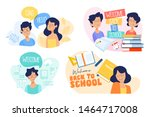 flat design concept of... | Shutterstock .eps vector #1464717008