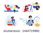 flat design concept of video...   Shutterstock .eps vector #1464719882