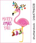 merry xmas y'all   calligraphy... | Shutterstock .eps vector #1464796028