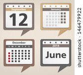 Calendar Icons  Vector Eps10...