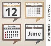 Calendar Icons  Vector Eps10...
