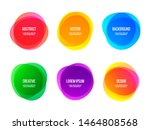 round colorful vector abstract... | Shutterstock .eps vector #1464808568