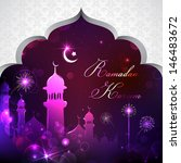 illustration of eid mubarak... | Shutterstock .eps vector #146483672