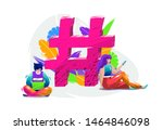 concept with different people... | Shutterstock .eps vector #1464846098