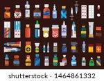 set of drugs medicine  pharmacy ...   Shutterstock .eps vector #1464861332