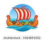 vector emblem for travel agency ... | Shutterstock .eps vector #1464891032