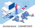 global logistics network... | Shutterstock .eps vector #1464891065