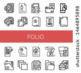 Set Of Folio Icons Such As...