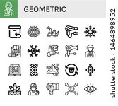 set of geometric icons such as... | Shutterstock .eps vector #1464898952
