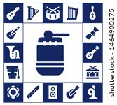 acoustic icon set. 17 filled... | Shutterstock .eps vector #1464900275