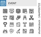 set of event icons such as...