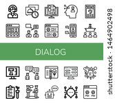 set of dialog icons such as... | Shutterstock .eps vector #1464902498