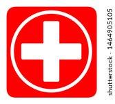 Medical White Cross Symbol In ...