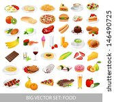 big set  food icons  various... | Shutterstock . vector #146490725