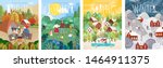 4 seasons  autumn  winter ... | Shutterstock .eps vector #1464911375