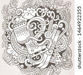 cartoon doodles winter... | Shutterstock . vector #1464922355